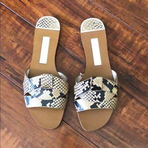 Zara flats snake print crossover sandals 36